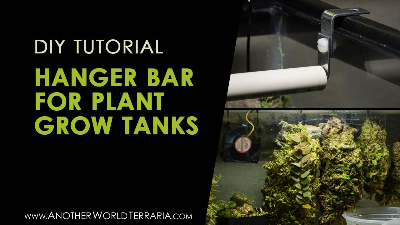 DIY plant hanger bar for mounted plants in grow tanks