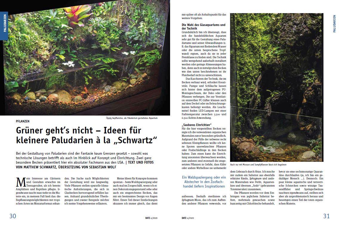 DATZ Magazine Featured Spread